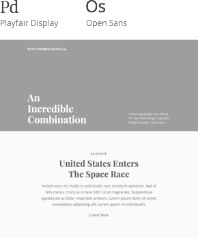 Font 09 – Playfair Display & Open Sans