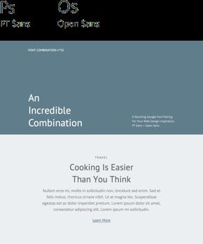 Font 10 – PT Sans & Open Sans