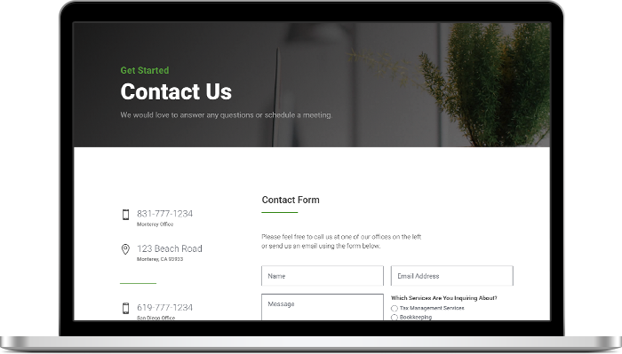 Ekewaka Contact Page Layout