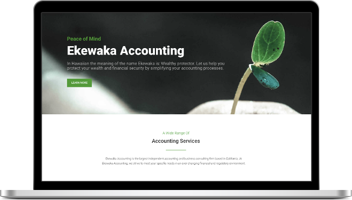 Ekewaka Home Page Layout