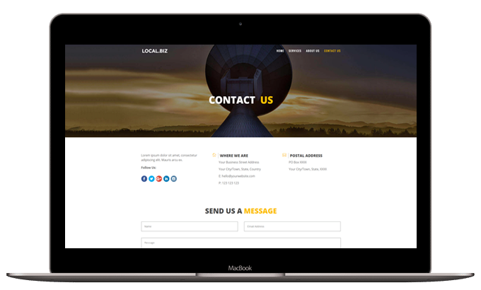 Small Business Layout – Contact