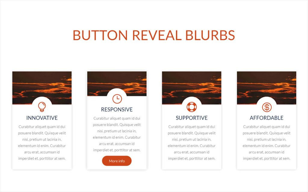 Button Reveal Blurbs