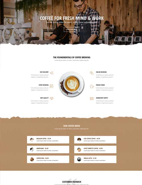 Cafe Home Layout