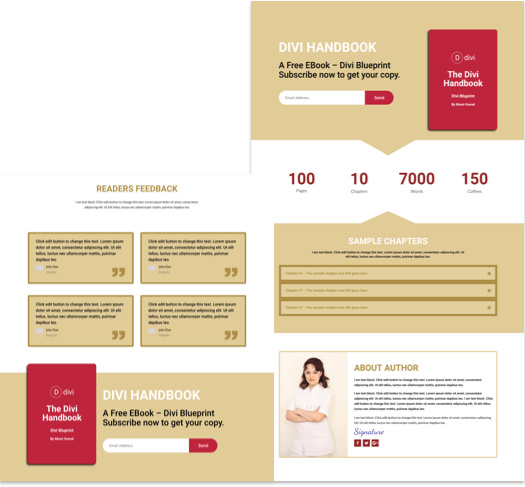 Ebook DIvi Layout
