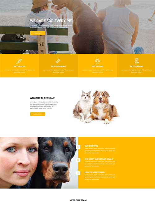 Pet Care Home Layout