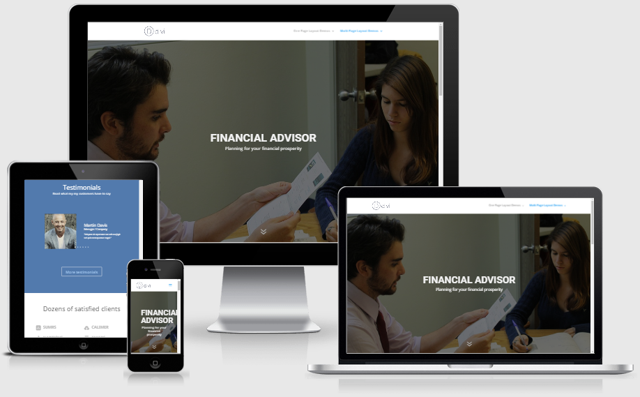 Financial Advisor Services Layout