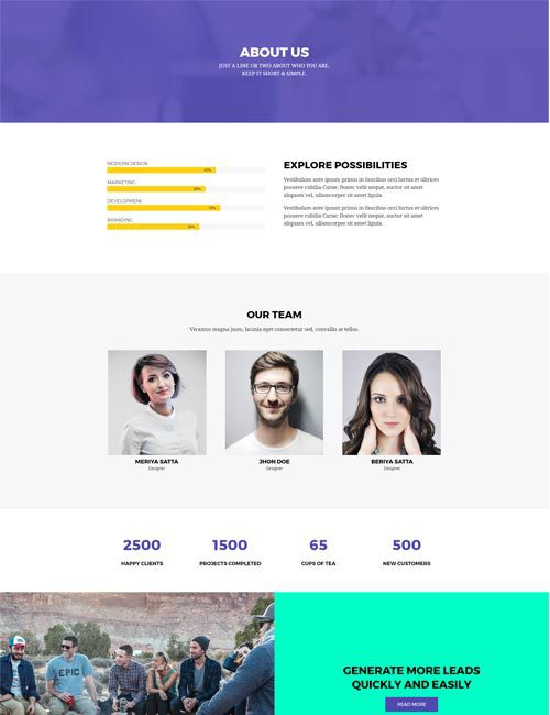 Creative Agency About Layout