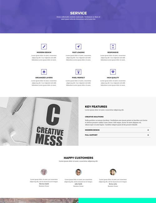 Creative Agency Services Layout