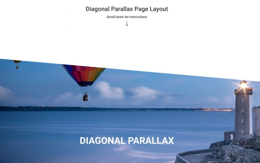 Diagonal Parallax Layout