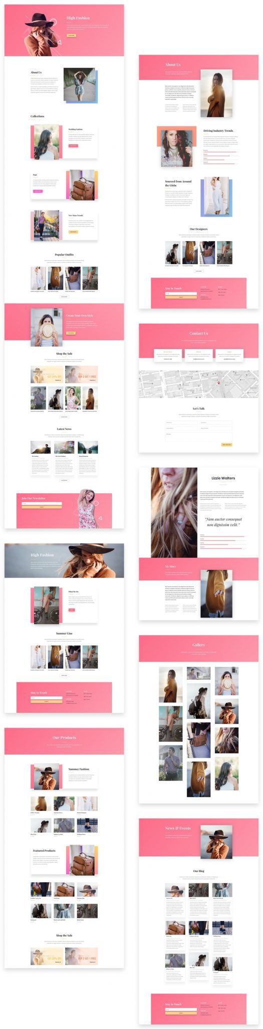 Stylish Fashion Layout Pack