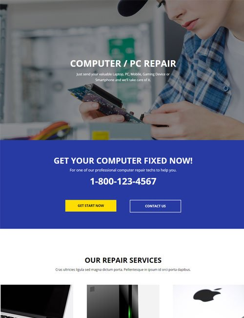 Computer Repair Home Layout