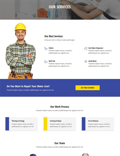 Plumber Services Layout