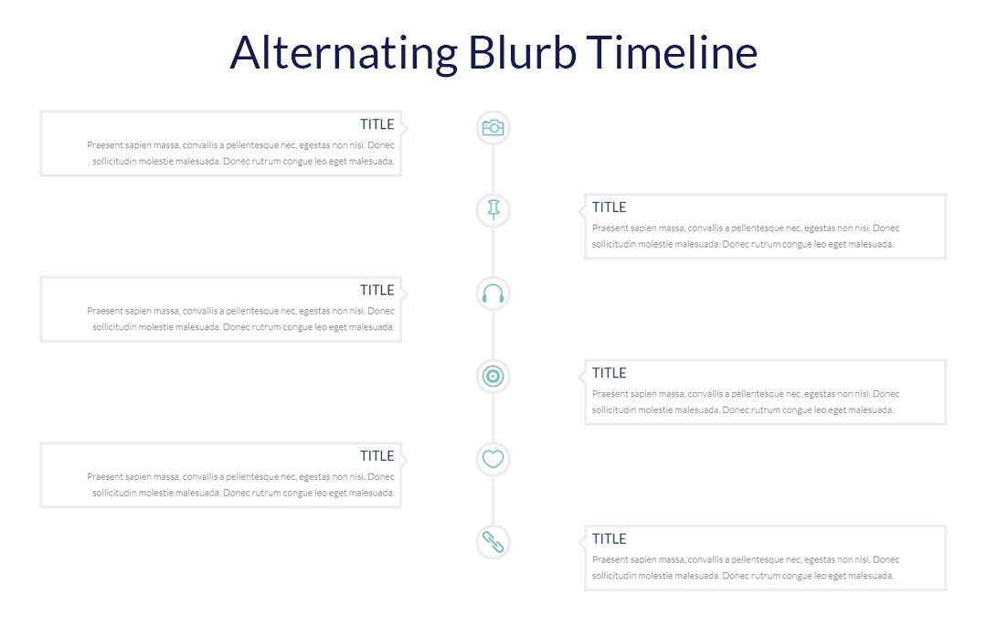 Alternating Blurb Timeline