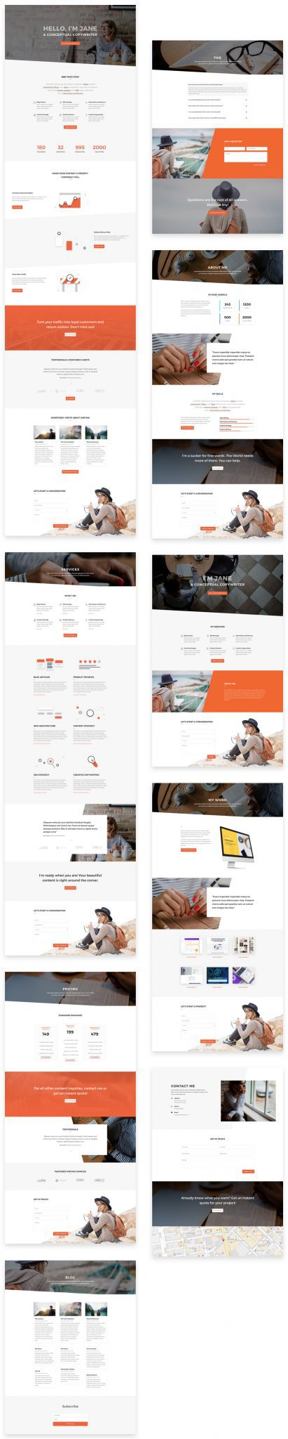 Copywriter Layout Pack