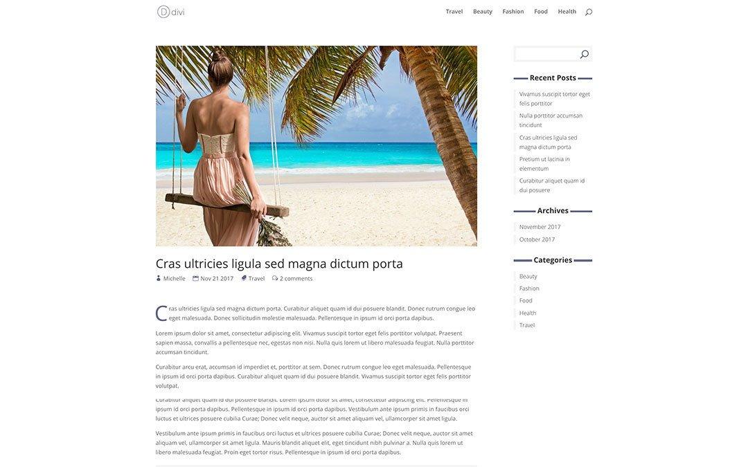 Custom Blog Post