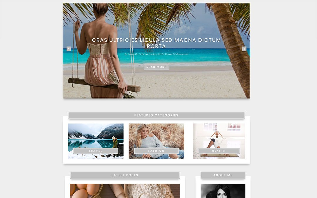 Elegant Blog Page Layout