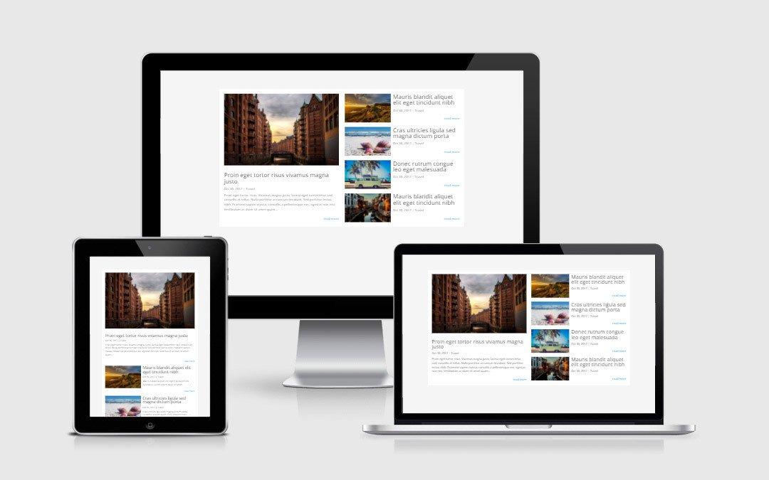 Magazine Style Blog Layout