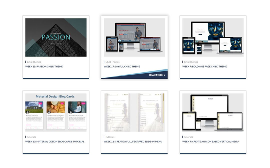 Multi Hover Effect Blog Layout