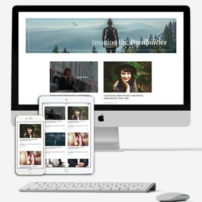 Blog Divi Layout from the Pixie Bundle