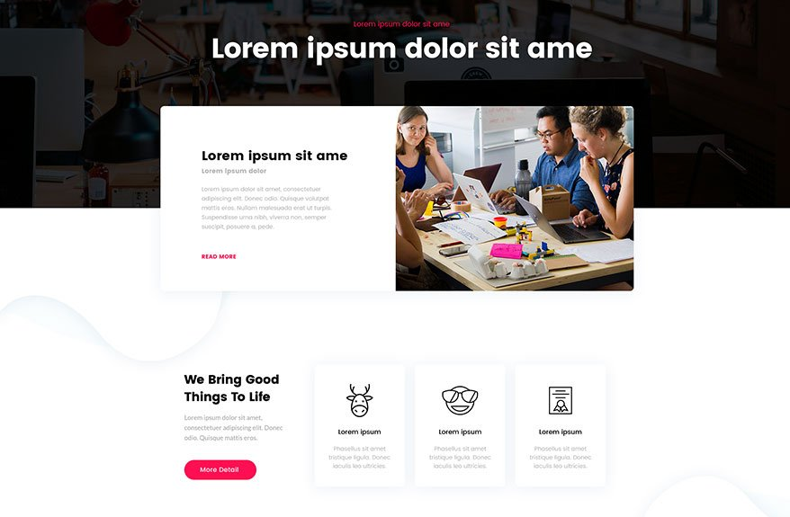 Divi One-Page Layout