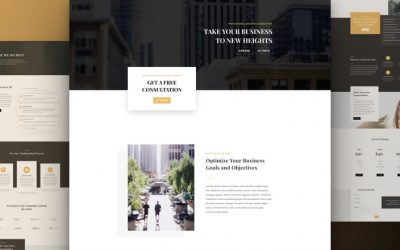 Business Consultant Layout Pack
