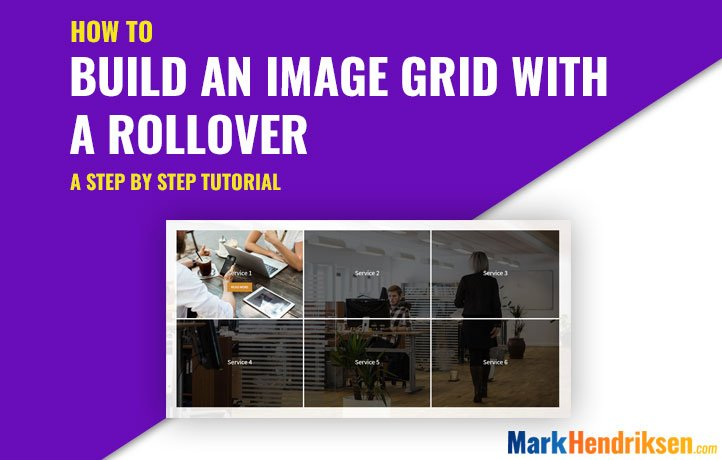 Image grid with a rollover