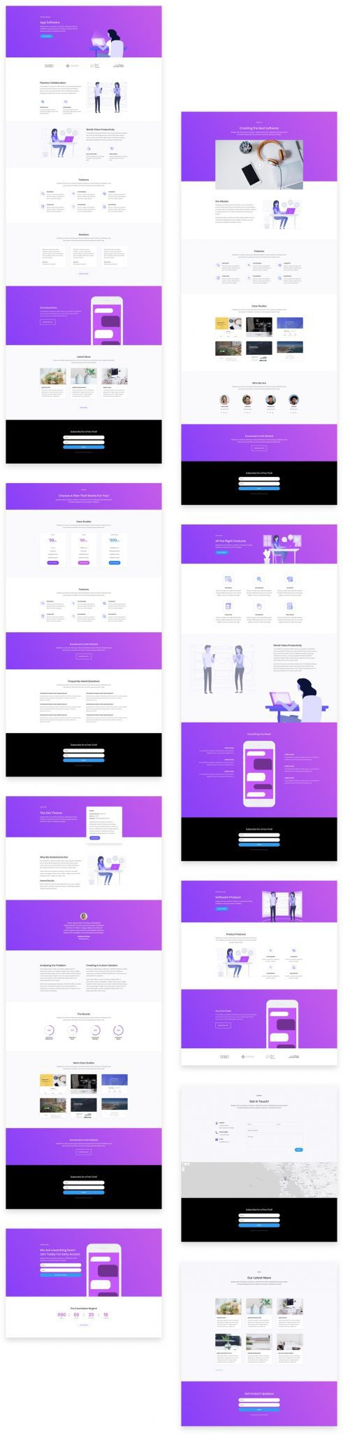 Software Marketing Divi Layout Pack