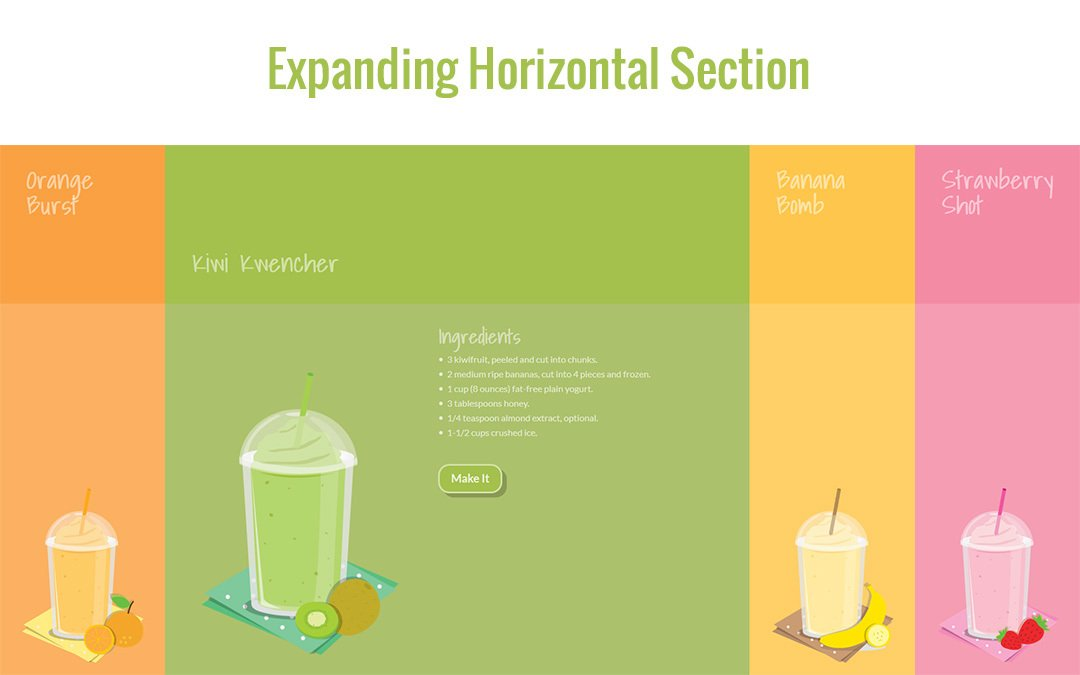 Expanding Horizontal Section