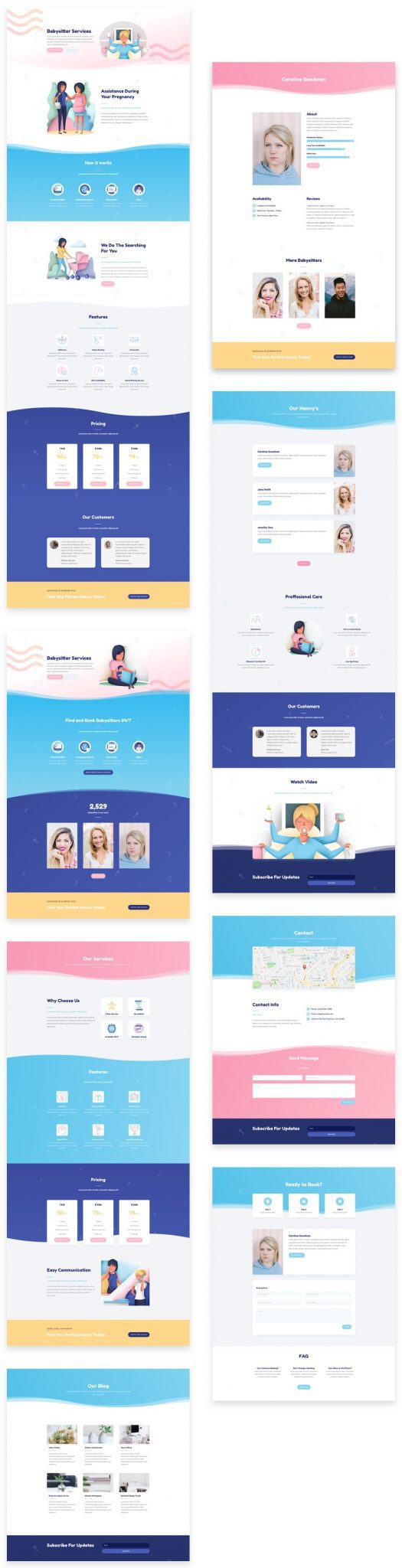 Babysitter Divi Layout Pack