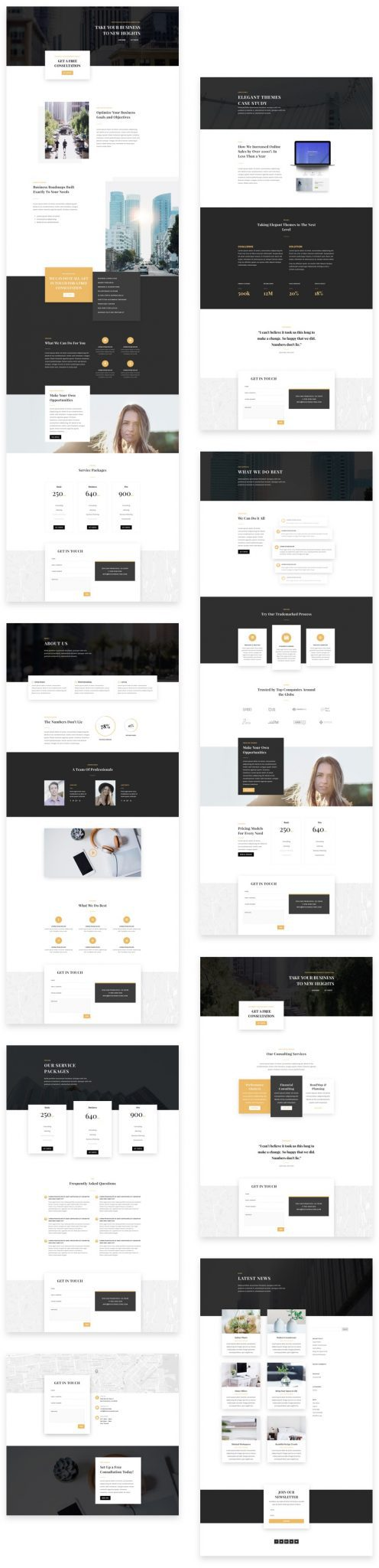 Business Consultant Divi Layout Pack