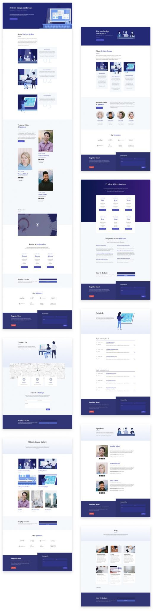 Design Conference Divi Layout Pack