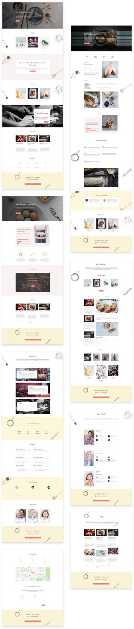 Food Recipes Divi Layout Pack
