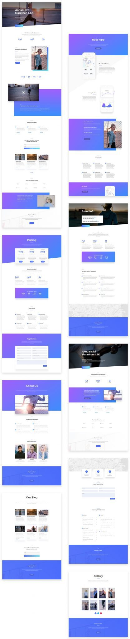 Marathon Divi Layout Pack