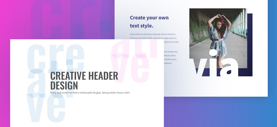 4 Creative Headers Using Abstract Text