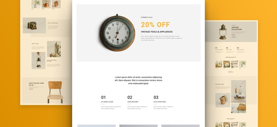 Boutique Layout Pack