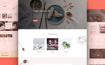 Food Recipes Layout Pack