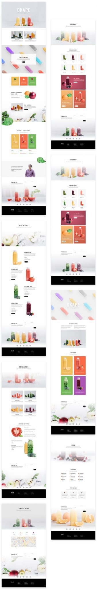 Juice Shop Layout Pack