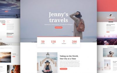 Travel Blog Layout Pack