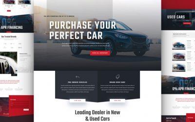 Car Dealer Layout Pack