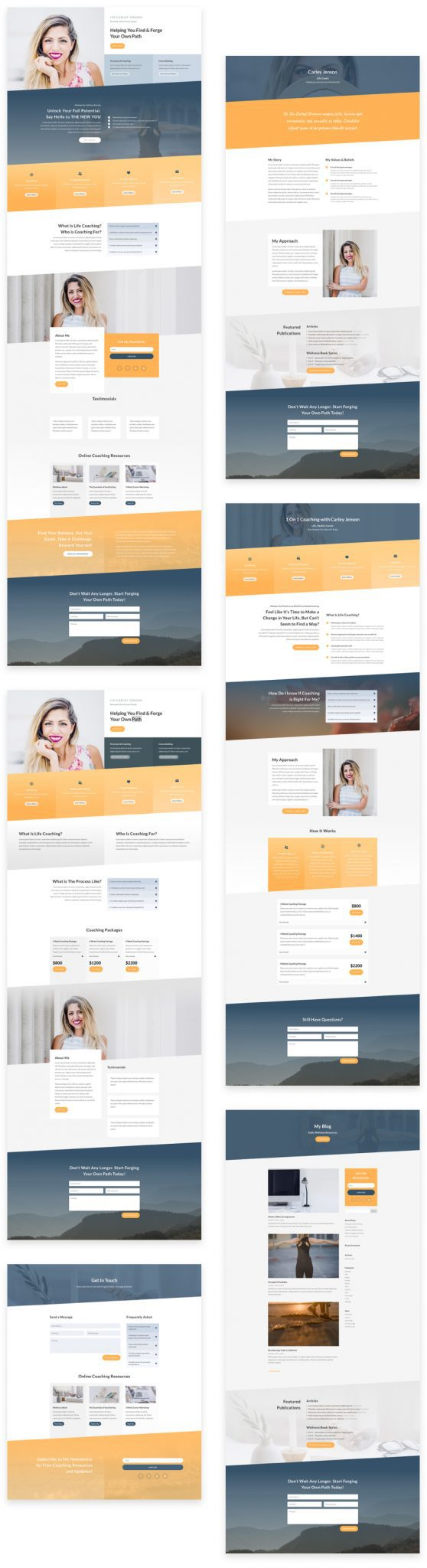 Life Coach Layout Pack
