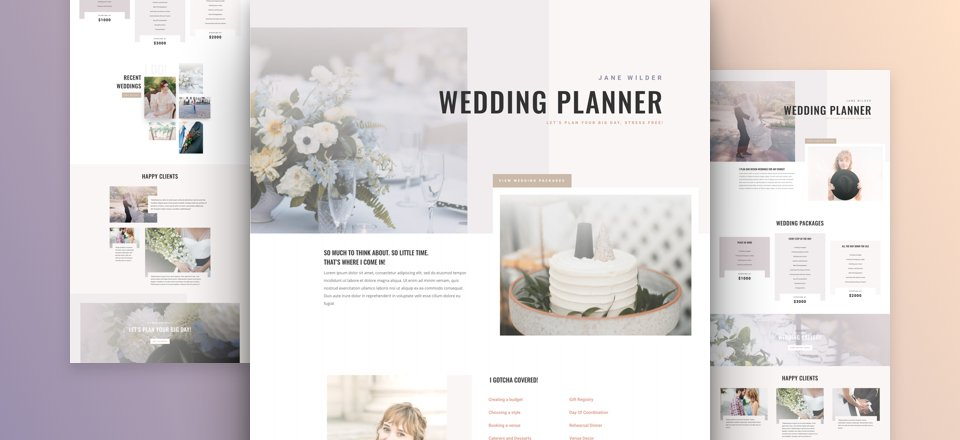 Wedding Planner Layout Pack
