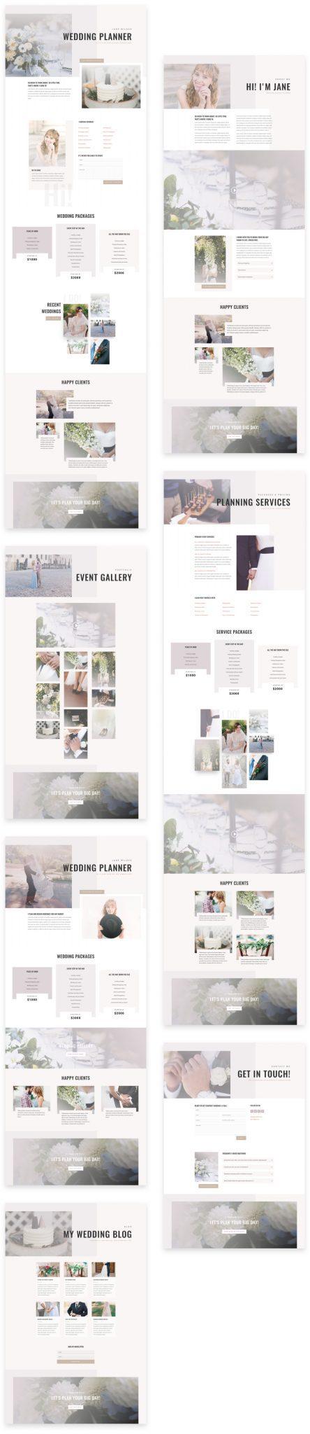 Wedding Planner Layout Pack