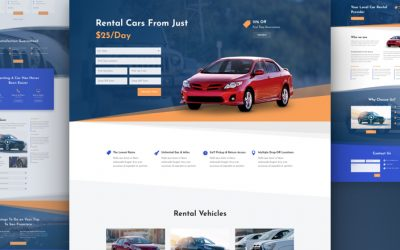 Car Rental Layout Pack