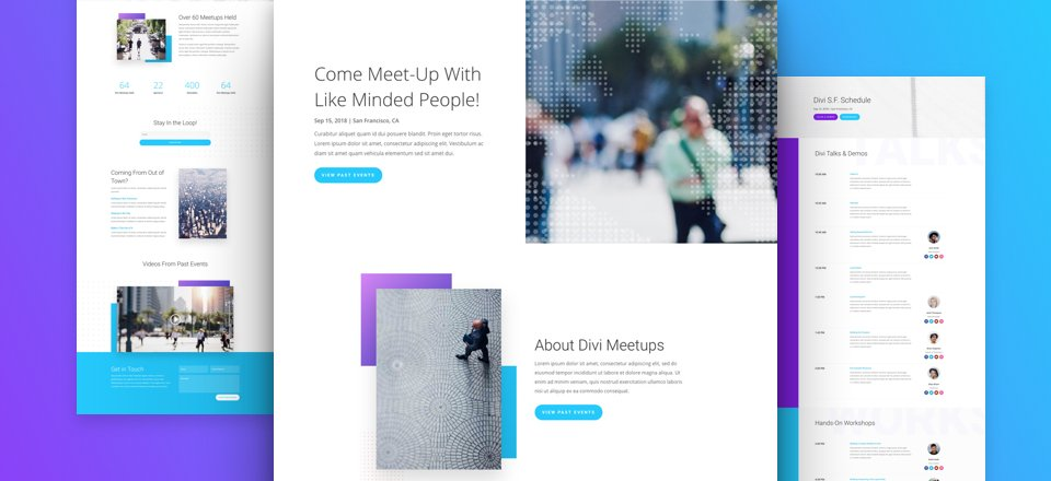 Meetup Layout Pack