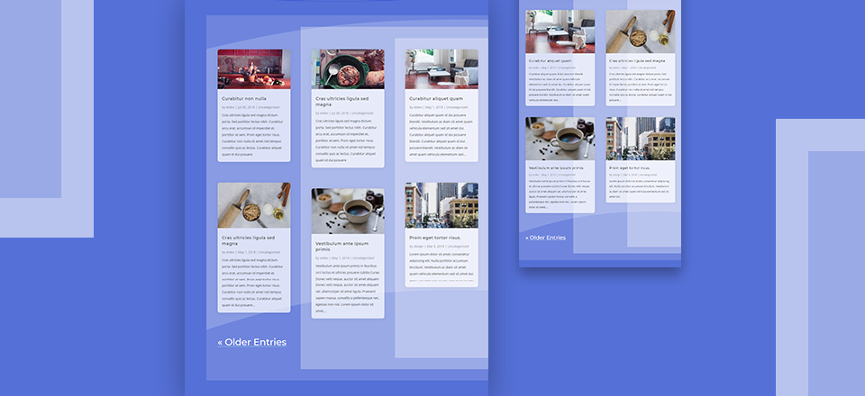 Divi Blog Page Grid Layout with Backgrounds