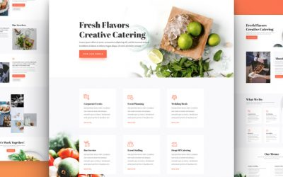 Food Catering Layout Pack