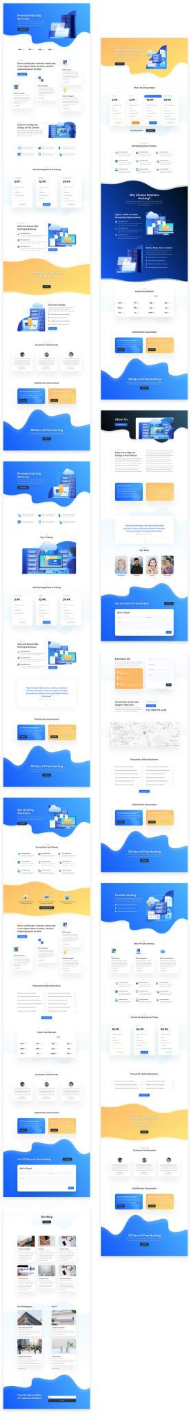 Hosting Company Layout Pack