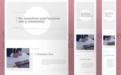 Minimal Website Layout for Divi