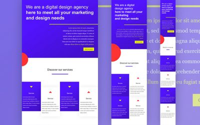 Flat Web Design with Divi