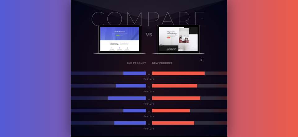 Creative Product Comparison Chart with Divi